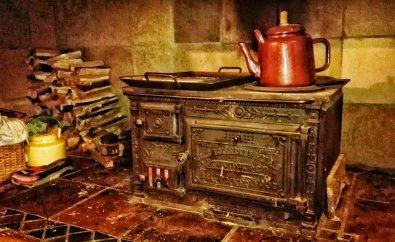 A coal stove